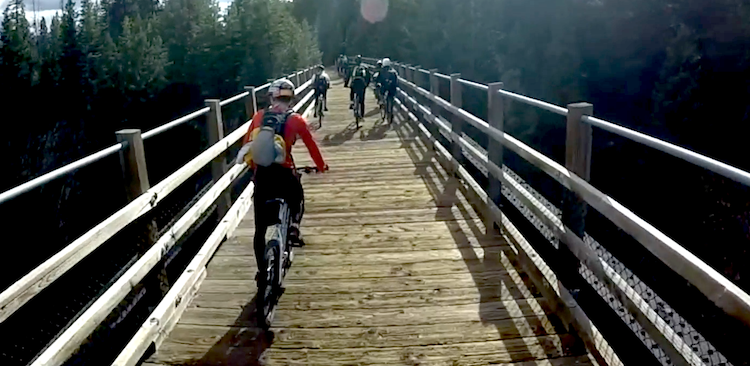 Riding the Trestle