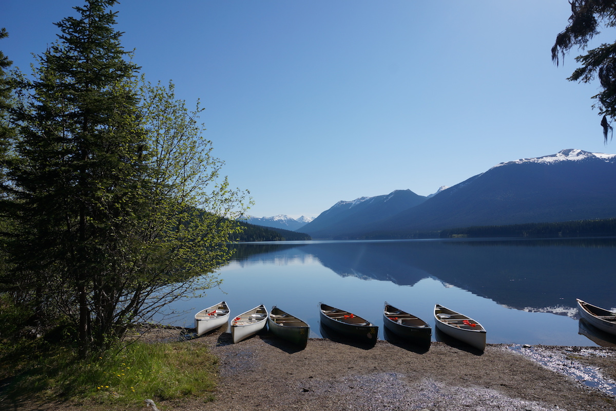 Canoes Resting at Wolverine Bay